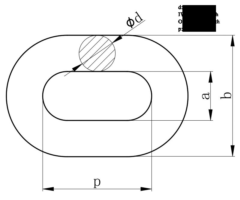 Scraper conveyor chains dimensions