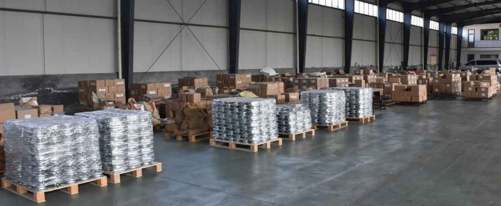 Warehouse for wire rope thimbles