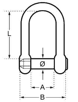 D Shackle With Hexagon Socket Pin Diagram