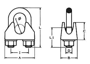DIN1142 Wire Rope Clips Diagram