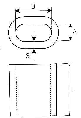 DIN3093 Aluminum Ferrules Diagram