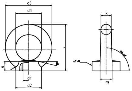 DIN582 eye nuts diagram