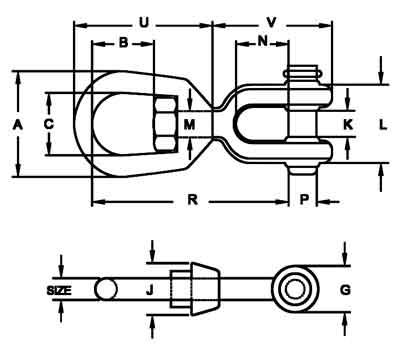 G-403 Jaw End Swivels Diagram