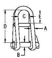Halyard Shackle Diagram
