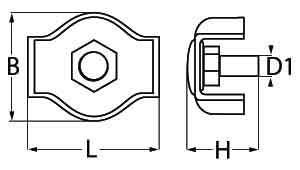 Simplex Wire Rope Clips Diagram