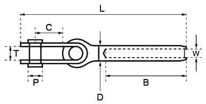 Swage Toggle Terminal diagram