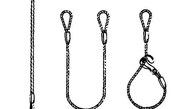 Single Leg Wire Rope Slings|Bridle Slings|1-Leg Lifting Slings