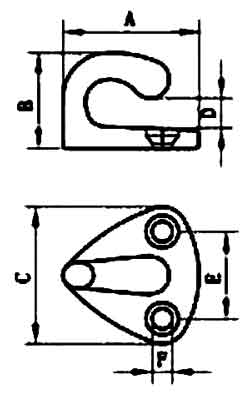 Boat Deck Fender Hook Specifications