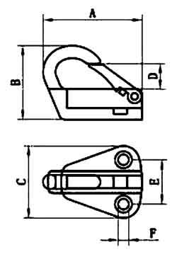 Folding Coat Hook Diagram