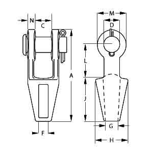 Open Spelter Socket Diagram