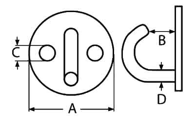 Round Deck Plate with Hook Diagram
