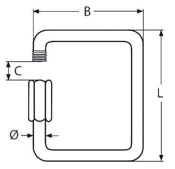 Square Quick Link Diagram