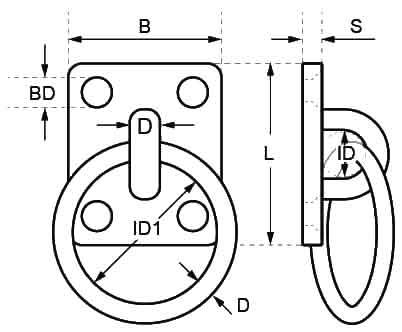 Square Ring Deck Plate Diagram
