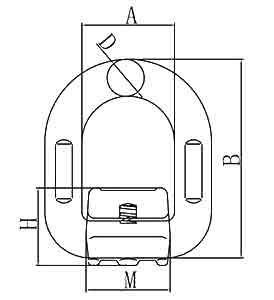 Weld on D ring Diagram