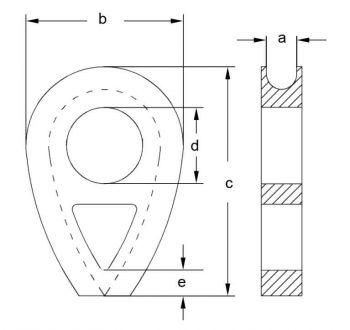 DIN3091 Solid Thimbles Diagram