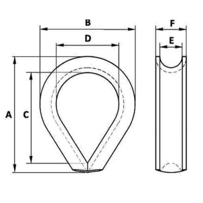 Heavy Duty Stub-End K2 Thimble Diagram