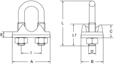 Italy wire rope clips diagram